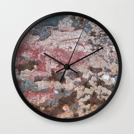 Cracking Paint and Rust Abstract Wall Clock