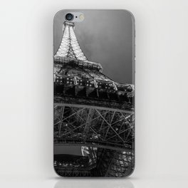Eiffel Tower 2 (Black and White) iPhone Skin