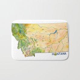 Montana Painted Map Bath Mat
