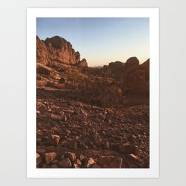 Carmelback Rocks At Dusk Art Print