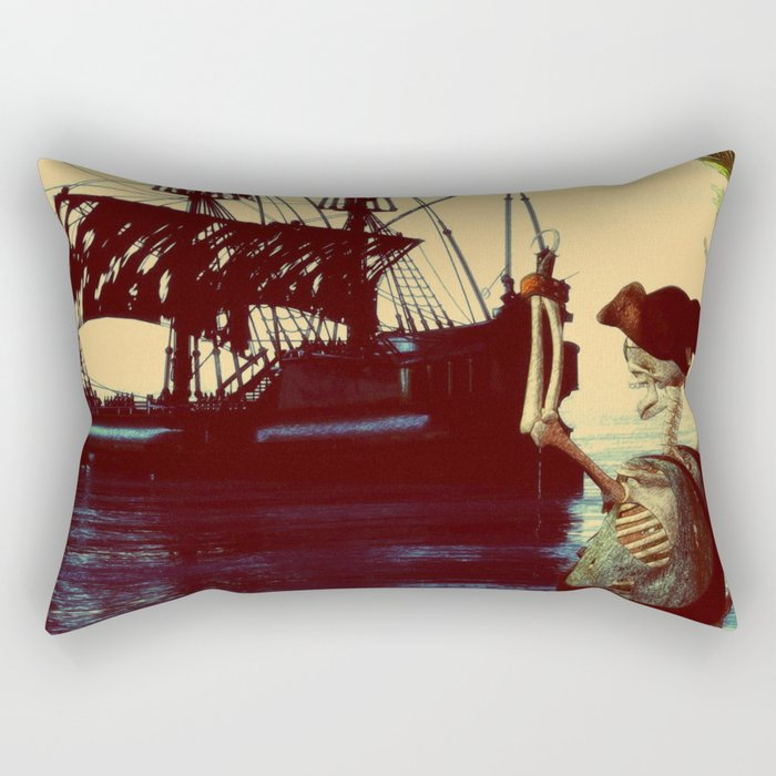 pirate ship Rectangular Pillow