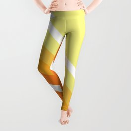 Retro Orange n' Yellow Lines Leggings