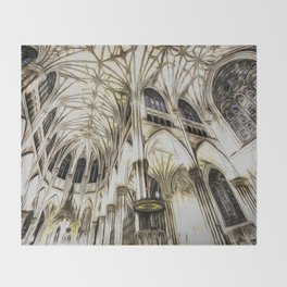 Cathedral Architecture Art Throw Blanket