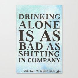 Drinking Alone Canvas Print