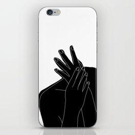 Black and white figure - Emmy iPhone Skin