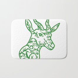 Springbok Head Paper Cut Bath Mat