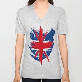 Sketched Union Jack Unisex V-Neck