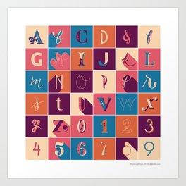 36 Days Of Type Art Print