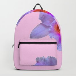 PINK ART TROPICAL CATTLEYA ORCHID FLOWER Backpack