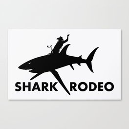 Shark Rodeo silhouette - Pop Culture Canvas Print