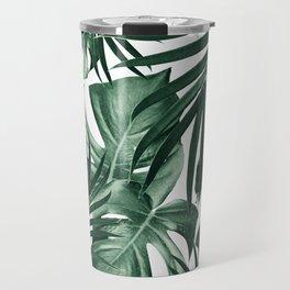 Tropical Jungle Leaves Pattern #4 #tropical #decor #art #society6 Travel Mug