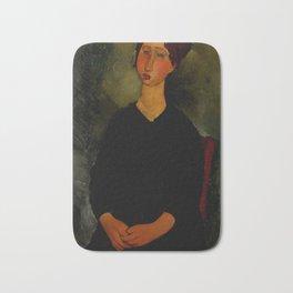 "Amedeo Modigliani ""Little Servant Girl"" Bath Mat"