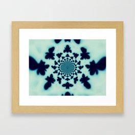 Bee Silhouette Tapestry Framed Art Print