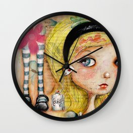 Courage, Alice (Color) Wall Clock
