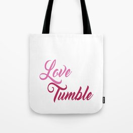 Live Love Tumble Gymnastics T-shirt Tote Bag