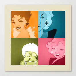 The Golden Girls Abstract Canvas Print