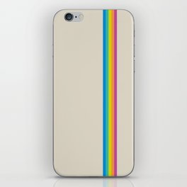 Rainbow - vintage photo iPhone Skin