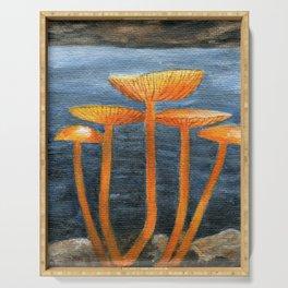 Tangerine Fungi by Teresa Thompson Serving Tray