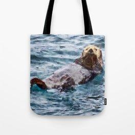 Happy Otter Tote Bag