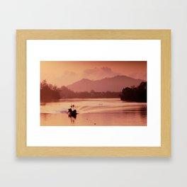 Dawn Fishermen, Ko Tao Framed Art Print