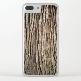 Wood bark Clear iPhone Case
