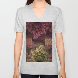 Unending magical spirals and spheres Unisex V-Neck