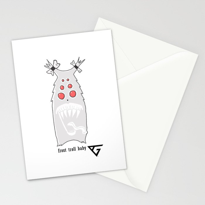 Frost Troll Baby Stationery Cards