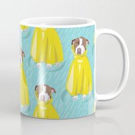 pit bull in rain coat Coffee Mug