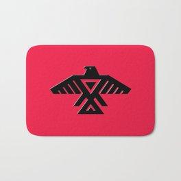 Thunderbird flag - Red background HQ image Bath Mat