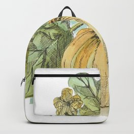 Antique Botanical Sketch Pumpkin Backpack