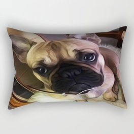 You can always find hope in a dogs eyes. Rectangular Pillow