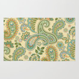 Yellow Paisley Rug
