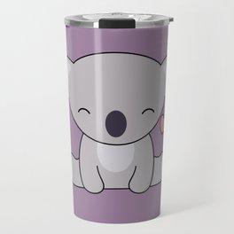 Kawaii Cute Koala Bear With Heart Travel Mug