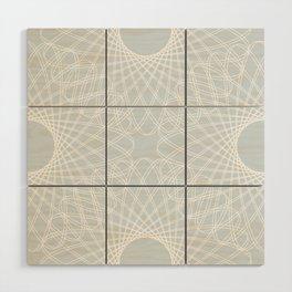 mathematical rotating roses - ice gray Wood Wall Art