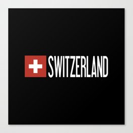 Switzerland: Swiss Flag & Switzerland Canvas Print