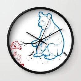 Da Bears - Camping Wall Clock