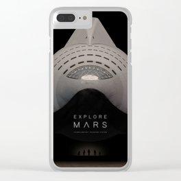 Explore Mars Clear iPhone Case