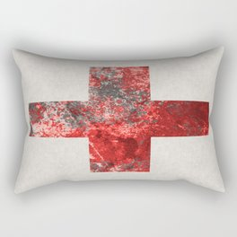 Medic - Abstract Medical Cross In Red And Black Rectangular Pillow