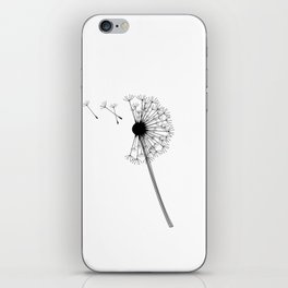 Dandelion Black and White iPhone Skin