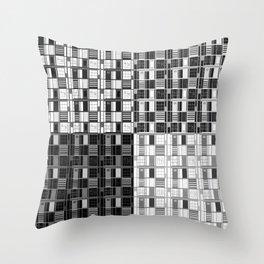 Fun Black-Cuadricula Throw Pillow