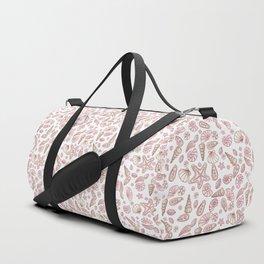 Millennial pink seashells Duffle Bag