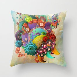 Flute Fruit Throw Pillow