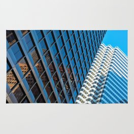 city structures Rug