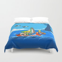 The Legend of Zelda: Wind Waker Advance Duvet Cover
