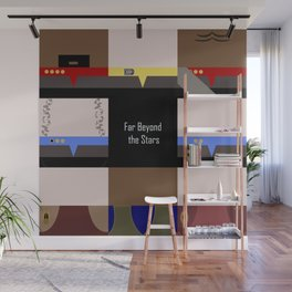 DS9 - Far Beyond the Stars - square - Minimalist Star Trek DS9 Deep Space Nine - Crew Wall Mural