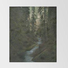Oregon Forest V Throw Blanket