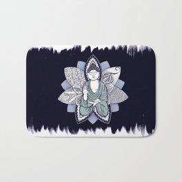 Buda and Lotus Flower Bath Mat