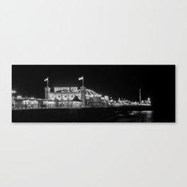 Brighton Pier at night Canvas Print