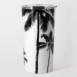 Monochrome tropical palms Travel Mug