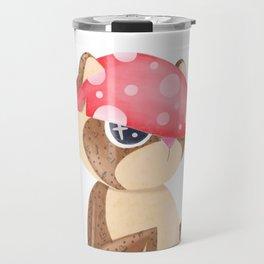 Mushroom Tanuki Travel Mug